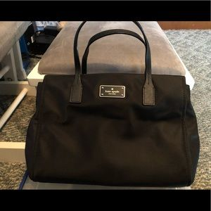 Kate spade black nylons purse
